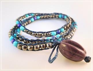 Silver Blue Bead